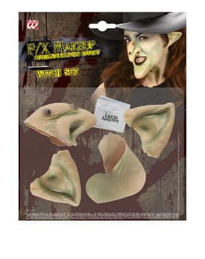Set de prótesis de bruja