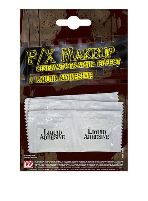 Set of 3 sachets of liquid latex adhesive