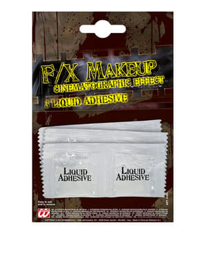 Set of 3 sachets of liquid latex adhesive