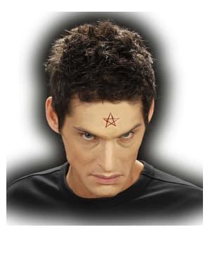 Latexová rána vyřezaný pentagram