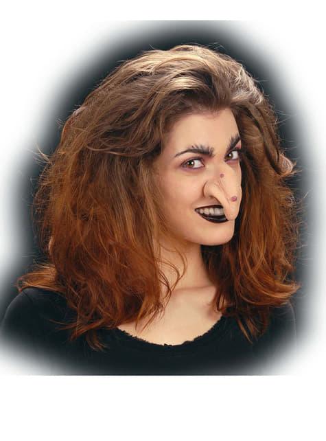 Nariz de bruja malvada con verrugas - para tu disfraz