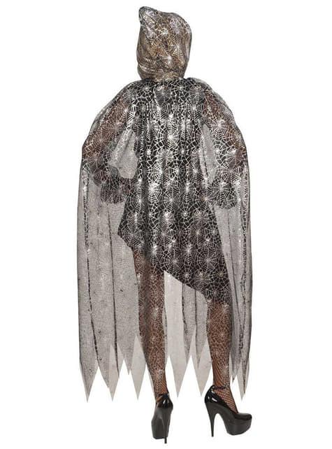 Capa de reina de las arañas con capucha - para tu disfraz