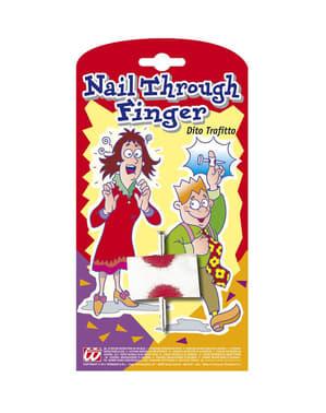 Durchbohrter Finger