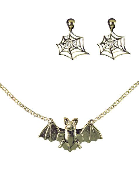 魔女のネックレスとイヤリング
