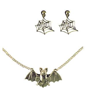 Hexe Halskette und Ohrschmuck