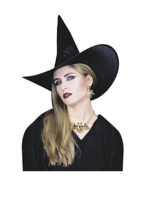 Collier et boucles d'oreille de sorcière
