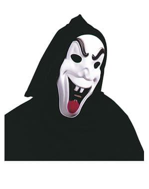 Máscara de fantasma diabólico con capucha