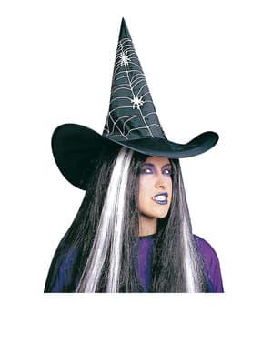 Pălărie de vrăjitoare cu pânză de paianjen