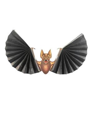 Morcego com asas em leque