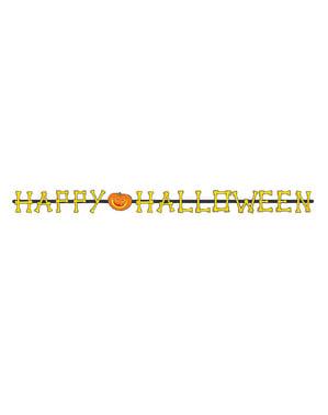 Happy Halloween Girlande mit Knöchelchen