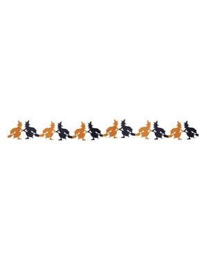 Guirlande med forskelligfarvede hekse