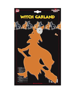 Girlanda čarodějnice oranžovo-černá