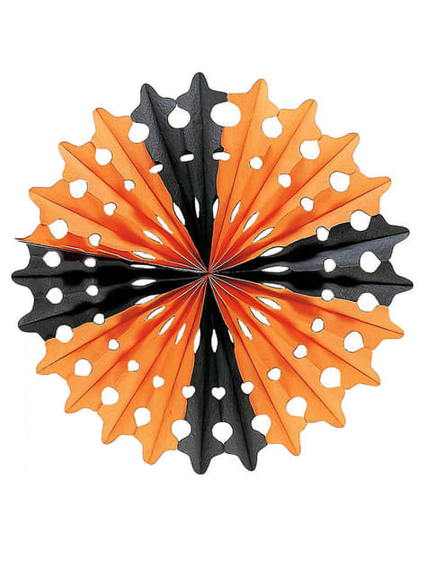 Decorative paper Halloween fan