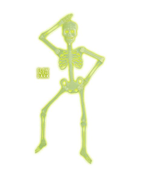 Szkielet z ruchomymi stawami 3D fosforyzujący