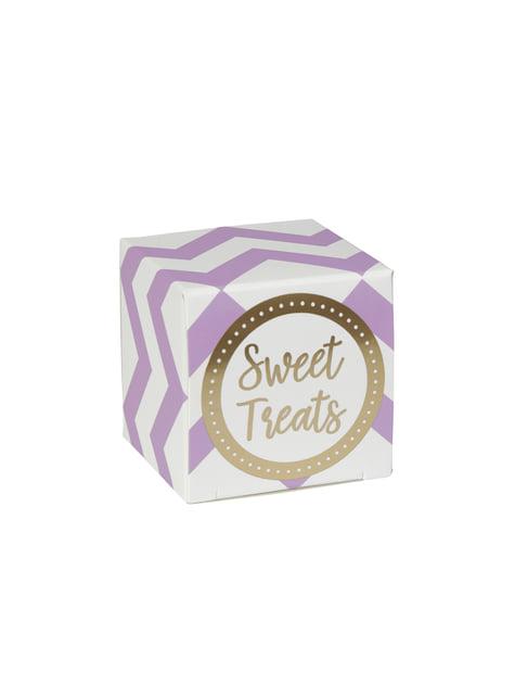 10 boîtes zigzag violettes et blanches en carton - Pattern Works