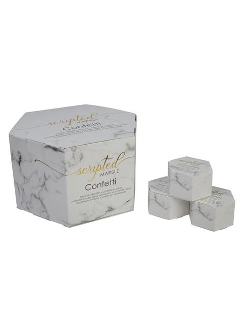 21 mini heart shaped confetti boxes - Scripted Marble