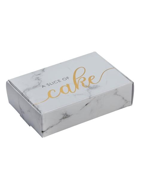 10 cajitas de regalo de papel - Scripted Marble - para tus fiestas