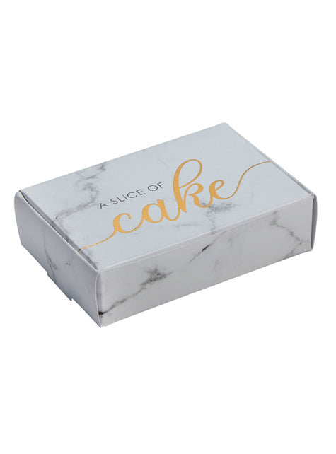 10 cajitas de regalo de papel - Scripted Marble - barato