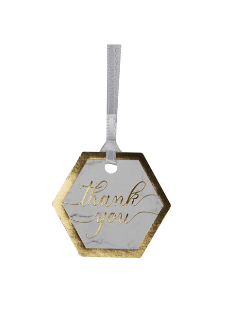 "10 pientä ""Thank you"" paperilappia – Scripted Marble"