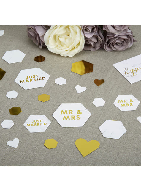 Assorted table confetti - Scripted Marble