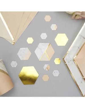 Confetes para mesa estampado geométrico cor de pêssego - Colour Block Marble