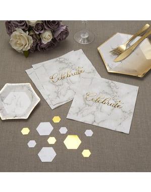 Zestaw 16 papierowe serwetki - Scripted Marble