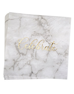 16 paberist salvrätik - skriptitud marmor