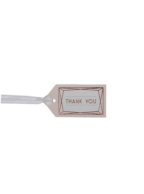"""10 pientä """"Thank you"""" korttia ruusukultaisena – Geo Blush"""