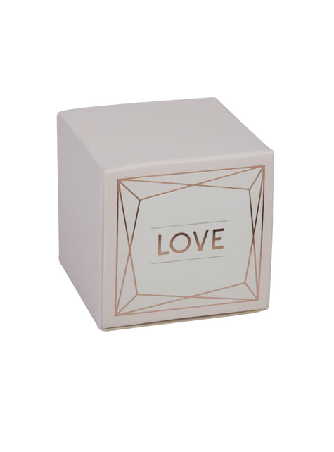 10 cajitas de regalo en oro rosa Love de papel - Geo Blush
