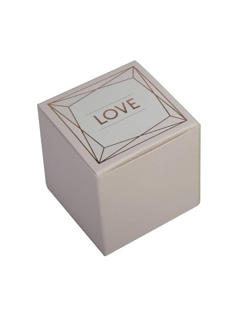 10 boîtes cadeaux rose gold en carton - Geo Blush