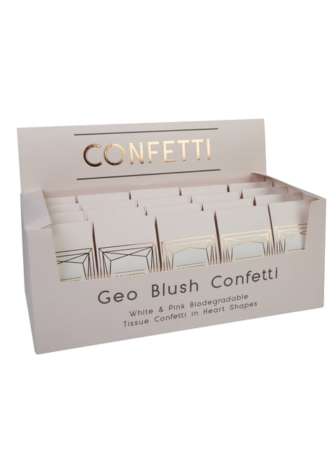 20 boîtes à confettis rose - Geo Blush