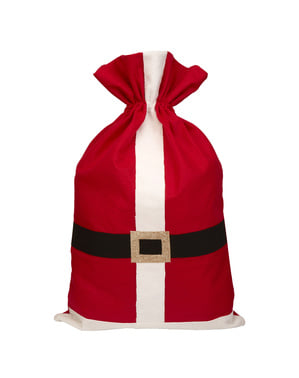 Säck i filttyg till gåvor - Dear Santa
