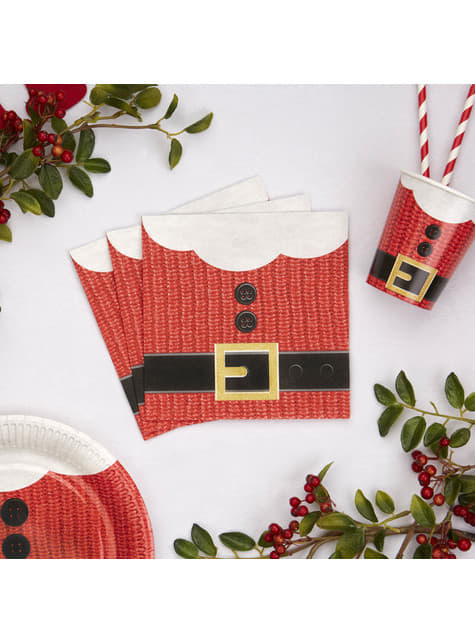 16 servilletas navideñas de papel (33x33 cm) - Dear Santa