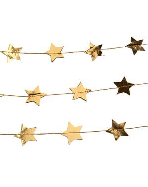 Gold stars garland - Dazzling Christmas