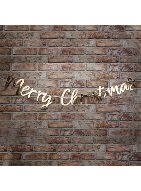 """""""Весела Коледа"""" венец в злато - ослепителна Коледа"""