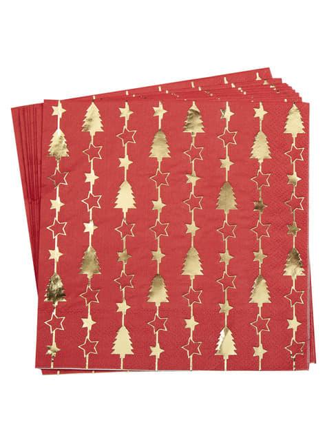 16 serviettes en papier - Dazzling Christmas