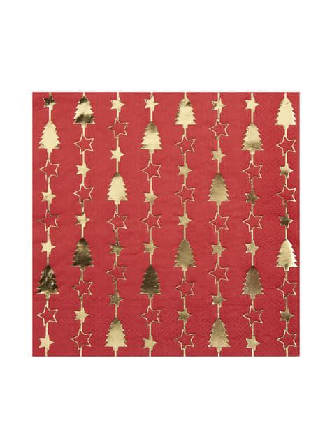16 servilletas de papel (33x33 cm) - Dazzling Christmas - para tus fiestas