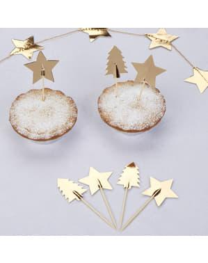 20 papir Juledekorerte tannpirker - Dazzling Jule