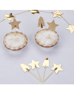 Weihnachtliche Deko-Sticks Set 20-teilig aus Papier - Dazzling Christmas