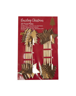 20 stuzzicadenti decorativi natalizi - Dazzling Christmas
