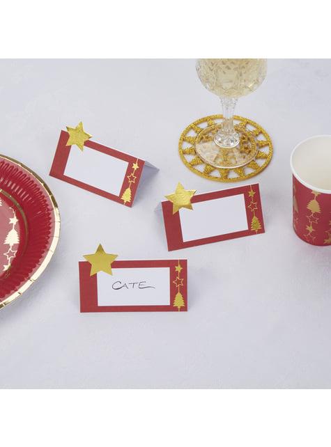 10 cartes porte-noms table - Dazzling Christmas