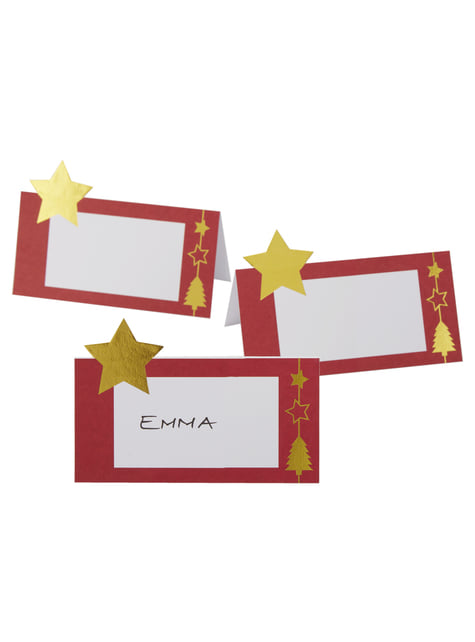 10 cartes porte-noms table - Dazzling Christmas