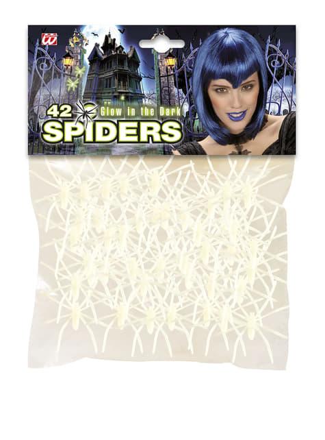 42 Spinnen fluoreszierend Halloween