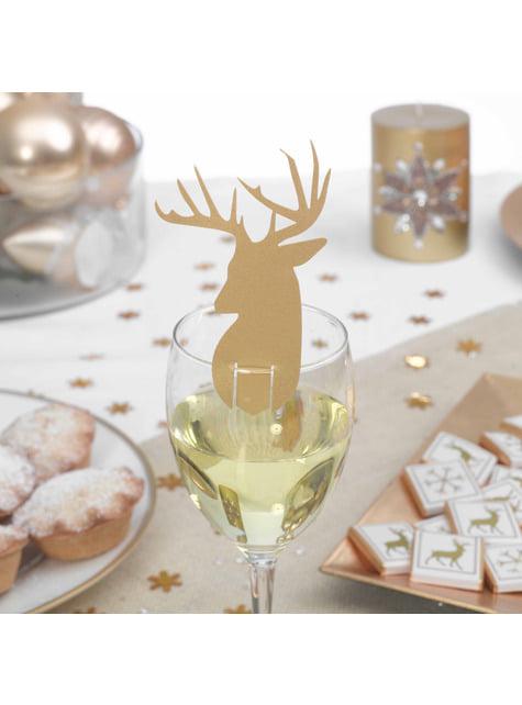 10 décorations pour verre dorées - Winter Wonderland