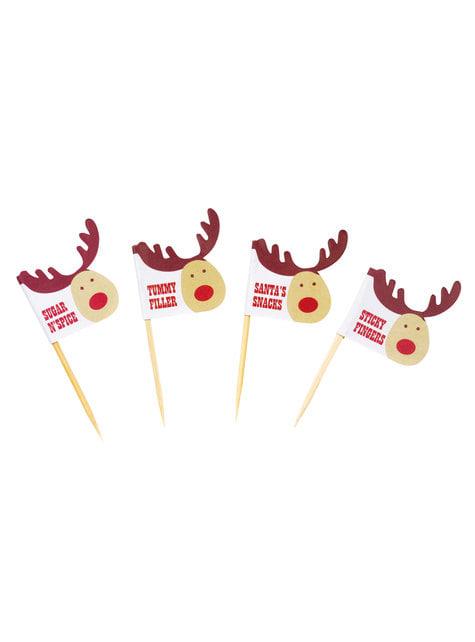 20 pics décoratifs pour gâteau de renne - Rocking Rudolf