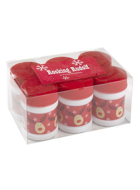 6 bolle di sapone con renna - Rocking Rudolf