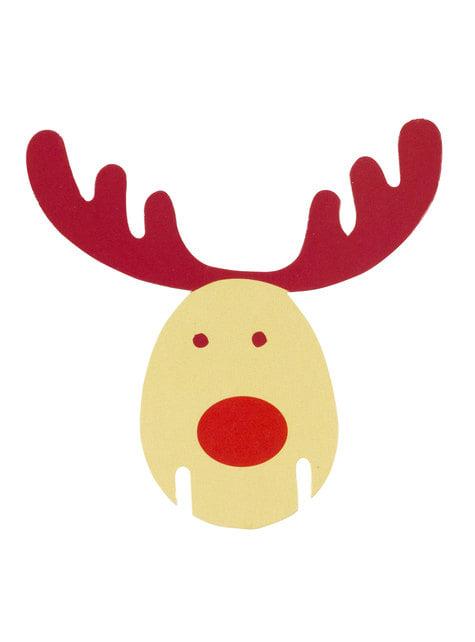 10 décorations pour verres renne - Rocking Rudolf