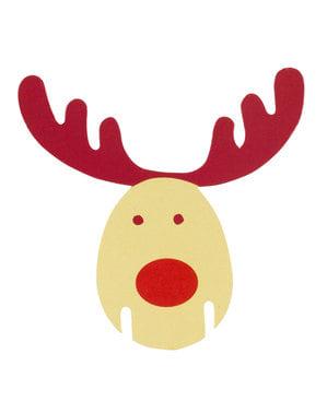 10 rensdyr kopdekorationer - Rocking Rudolf