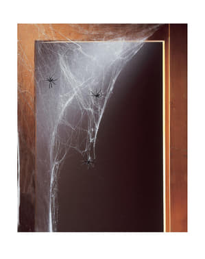 Бяла паяжина с паяци