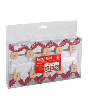Rendier decoratie kit - Rockende Rudolf
